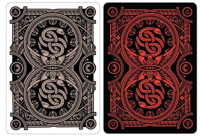 The Card Backs (The Orphic Egg with the double serpent)