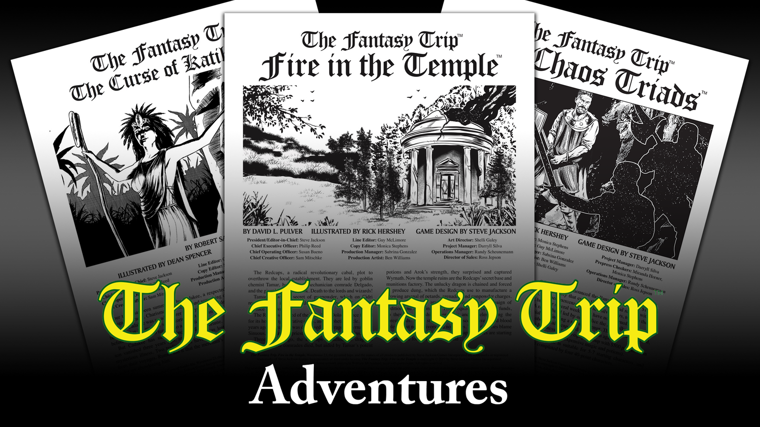 New adventures for use with The Fantasy Trip roleplaying game, offered in both print and PDF!