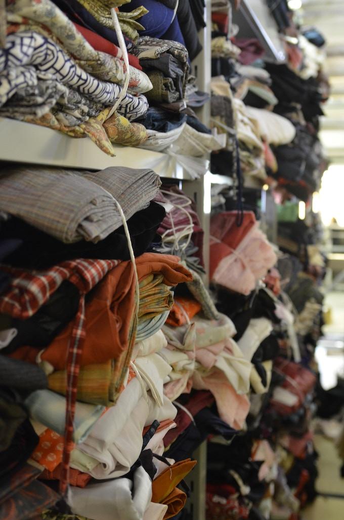 Les kimonos qui a conservé 保管庫の着物のストック