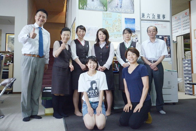 avec le PDG M.Shinohara et les emprois de Maruroku/丸六株式会社にて社長・社員の皆さんと