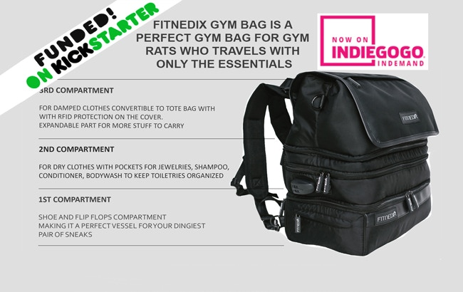 006cbe37c41b The Only Gym Bag You ll Ever Need by FITNEDIX — Kickstarter