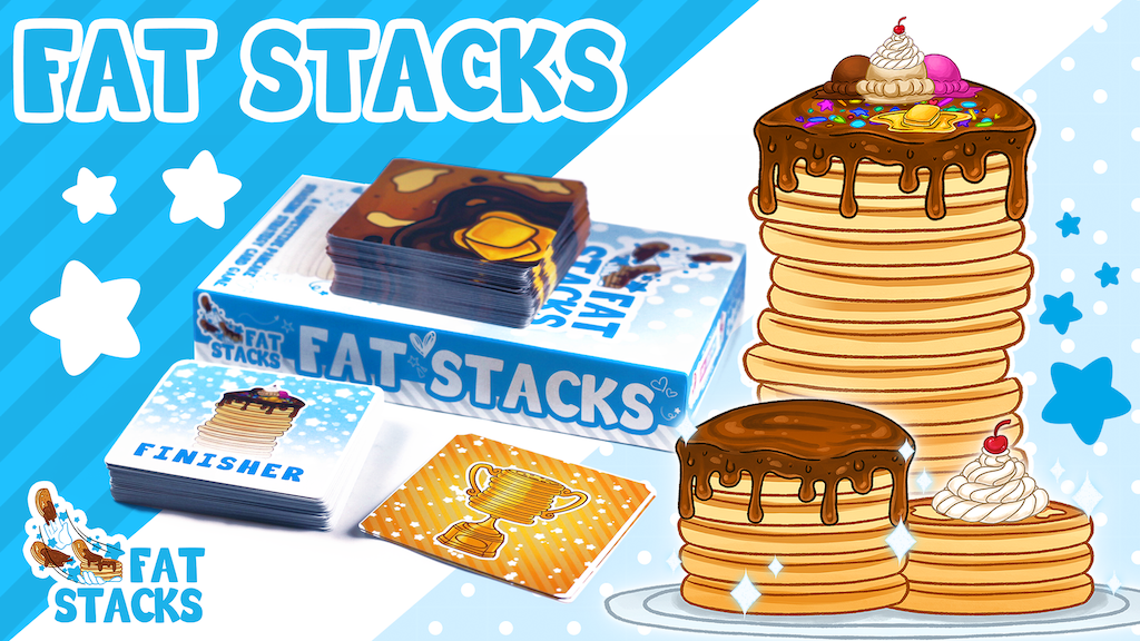 FAT STACKS: The Pancake Stacking Strategy Card Game project video thumbnail