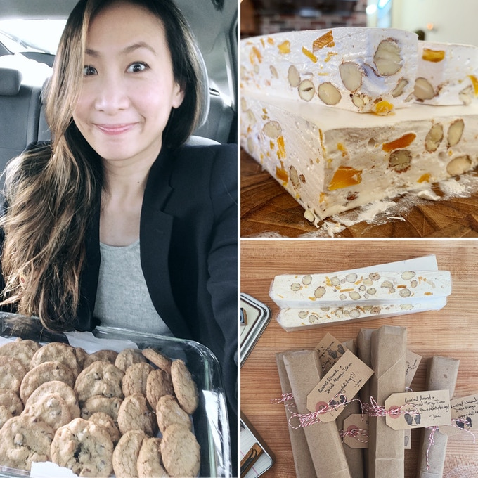 Fig 8: Some of my work - cookies for Thanksgiving, Almond & Dried Mango Turrón for Christmas.