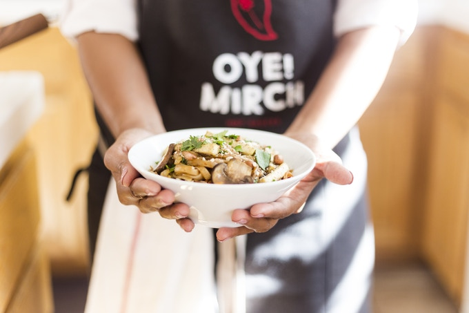 Home made classic pad thai tossed with Oye!Mirch Chili
