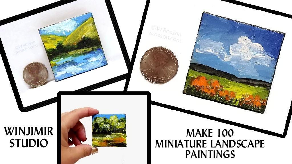 Make 100 Miniature Landscape Paintings.