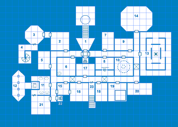 2D 'Blue' hex map