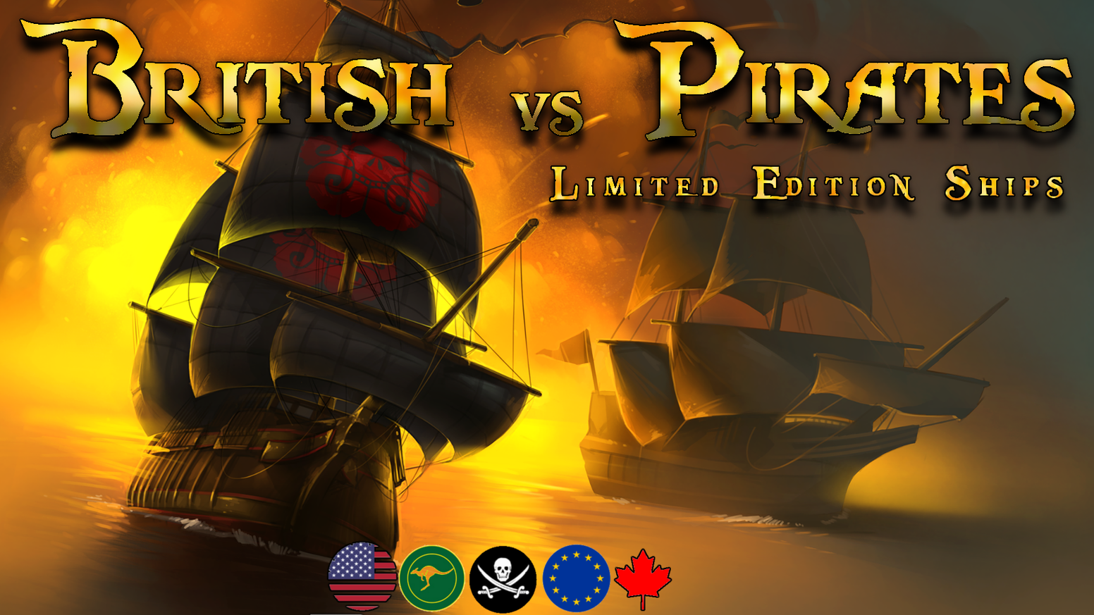 Epic Limited Edition Ship Cards for British vs Pirates!