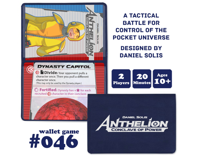 The game consists of just 18 cards and is packaged in a vinyl wallet for maximum portability.