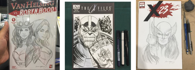 Custom cover sketches by Kevin McCoy!