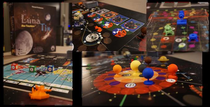 Prototype Game Board LunaTix trilogy