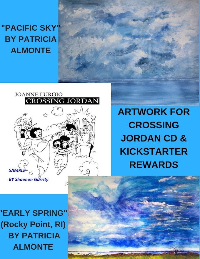 Artwork by Patricia A Almonte & Shaenon Garrity for Crossing Jordan CD& Kickstarter rewards