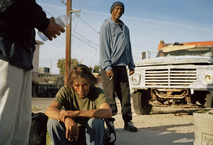 Terry and his brother waiting in line for the soup kitchen. Homeless for 4 years after being laid off. Las Vegas, Nevada 2016