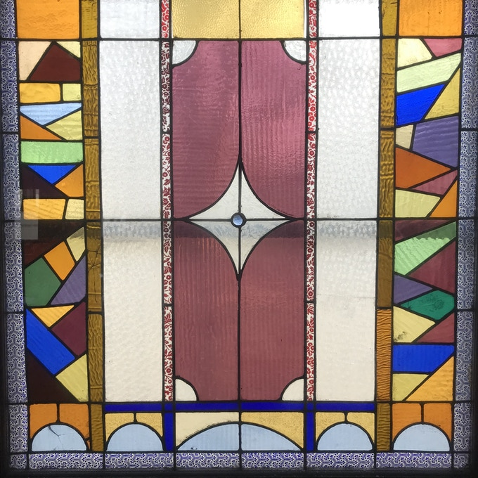 An up close look at our original stained glass windows.