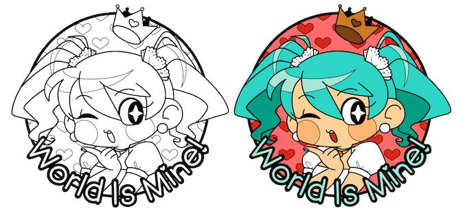 World Is Mine! ☆ Hatsune Miku Hard Enamel Pin by K-K-Armadillo