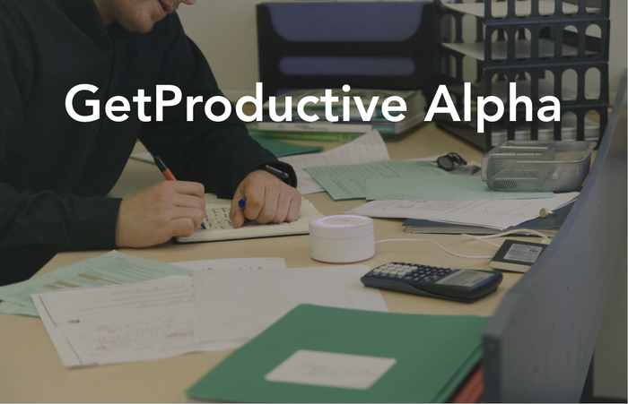 Become more productive, focused and achieve your goals by increasing your productivity. Use the GetProductive Alpha to achieve more now.