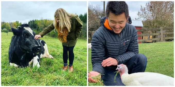 PCV Founders Sara & Lei Liu at Watkins Glen Farm Sanctuary
