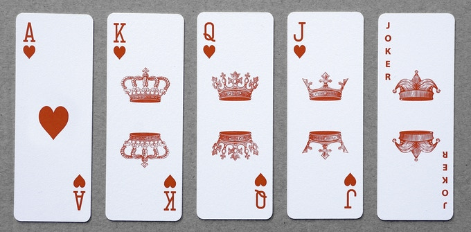 Our Classic design has traditional looking face cards