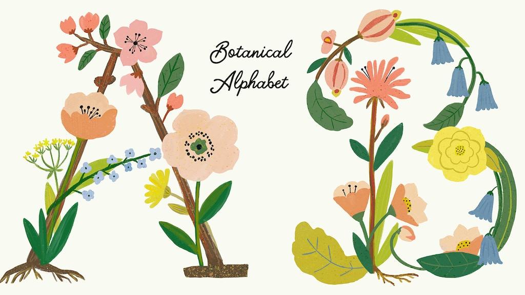 100 Limited Edition Botanical Alphabet Prints project video thumbnail