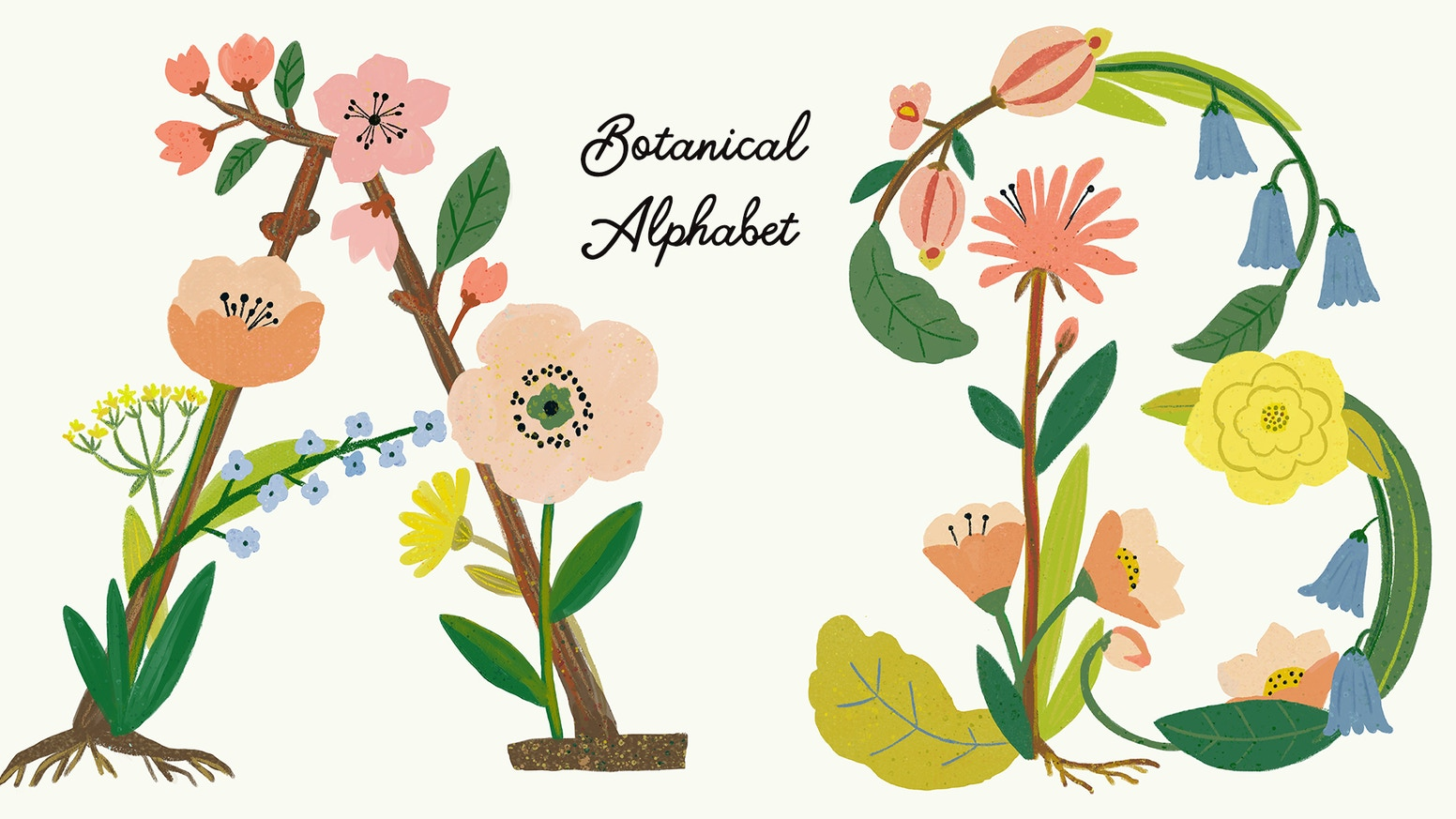 100 Limited Edition Botanical Alphabet Prints