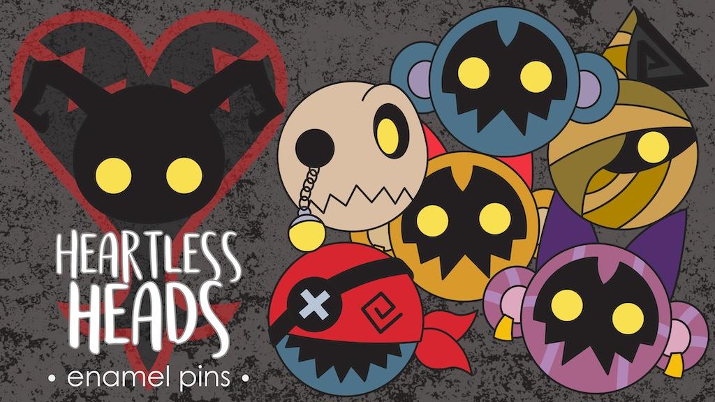 Heartless Heads Enamel Pin