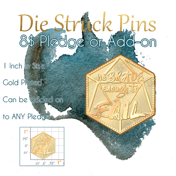 Die Struck Pin Pledge or Add-on