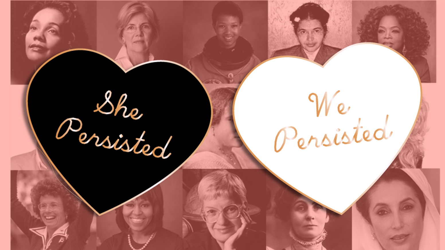 "We made ""We Persisted"" Pins and got through some of the remainder of the rewards produced for the She Persisted Enamel pin/pendant campaigns"