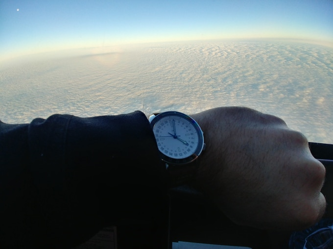 Testing out the pilots watch!
