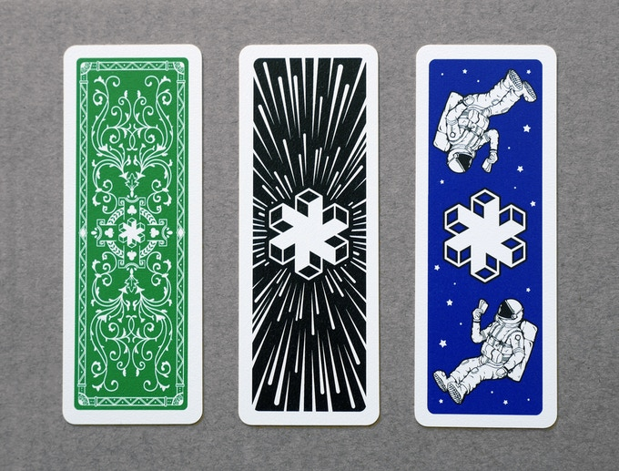 Our three new designs: Classic, Warp Speed and Astronauts Playing Cards