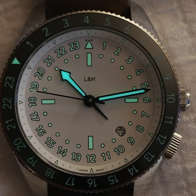 Final product:  White Atlantic with BGW9 and C3 lume, 42mm case, 49mm lug to lug