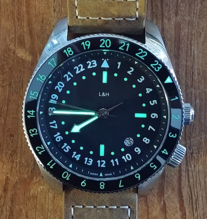 Final product:  Black Atlantic with BGW9 and C3 lume, 42mm case, 49mm lug to lug