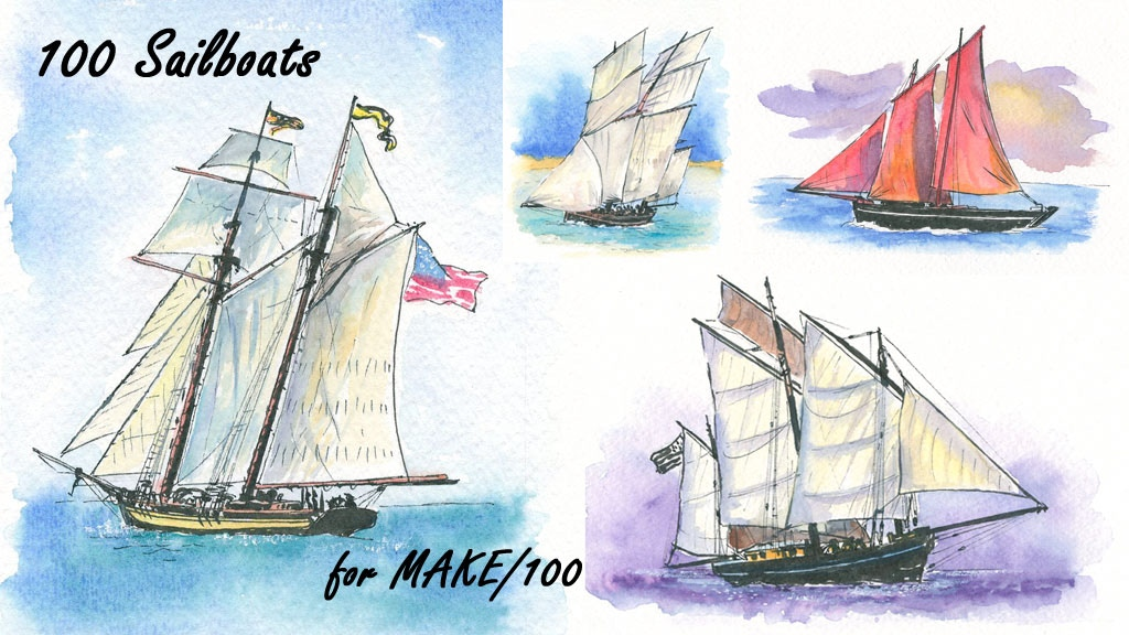Make 100 Sailboats project video thumbnail