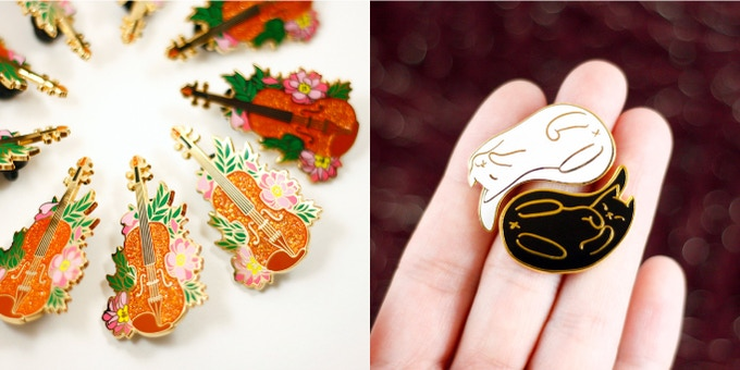Some of Studio Michan's past pins.