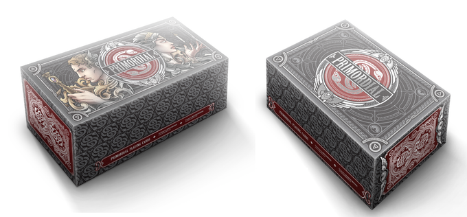 (Left to Right) Primordial Custom Full Brick and Half Brick Boxes