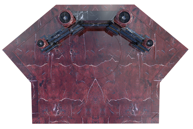 RED MARBLE ALTAR