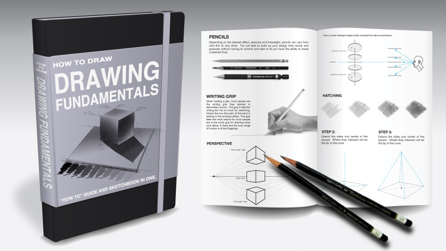 Learning to draw can be terrifying! This sketchbook alleviates that fear by providing simple instructions with templates to draw over.