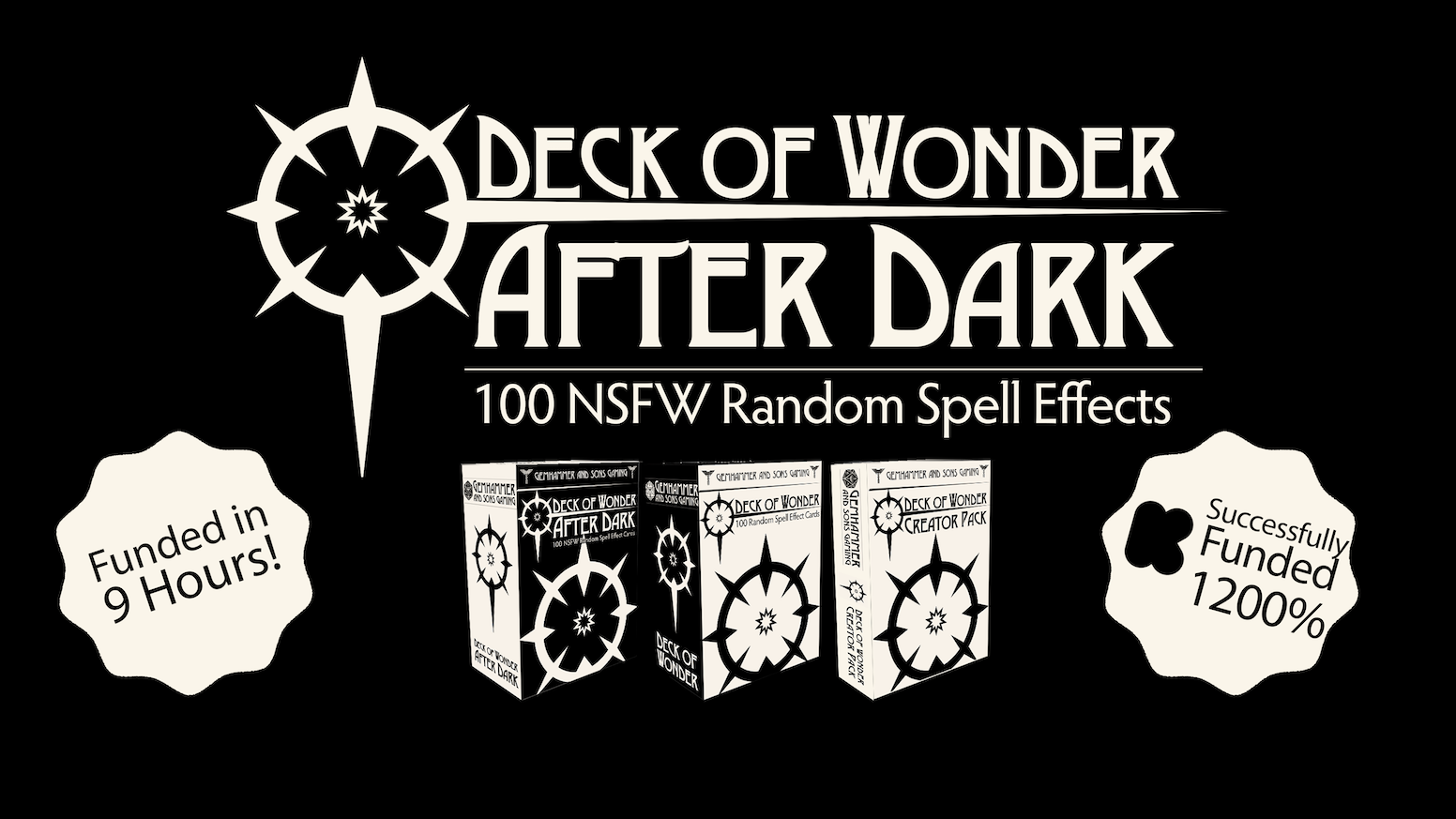 Add a little Wonder to your favorite tabletop RPG adventure with our classic random spell effect cards plus an all new NSFW expansion!
