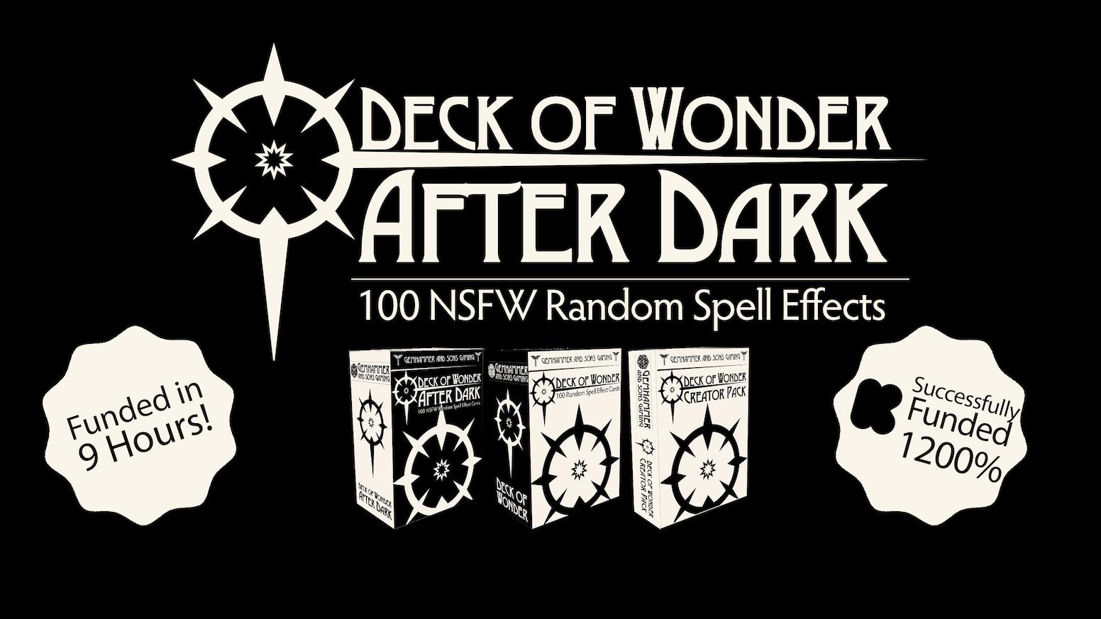 Deck of Wonder: After Dark - 100 NSFW Random Spell Effects