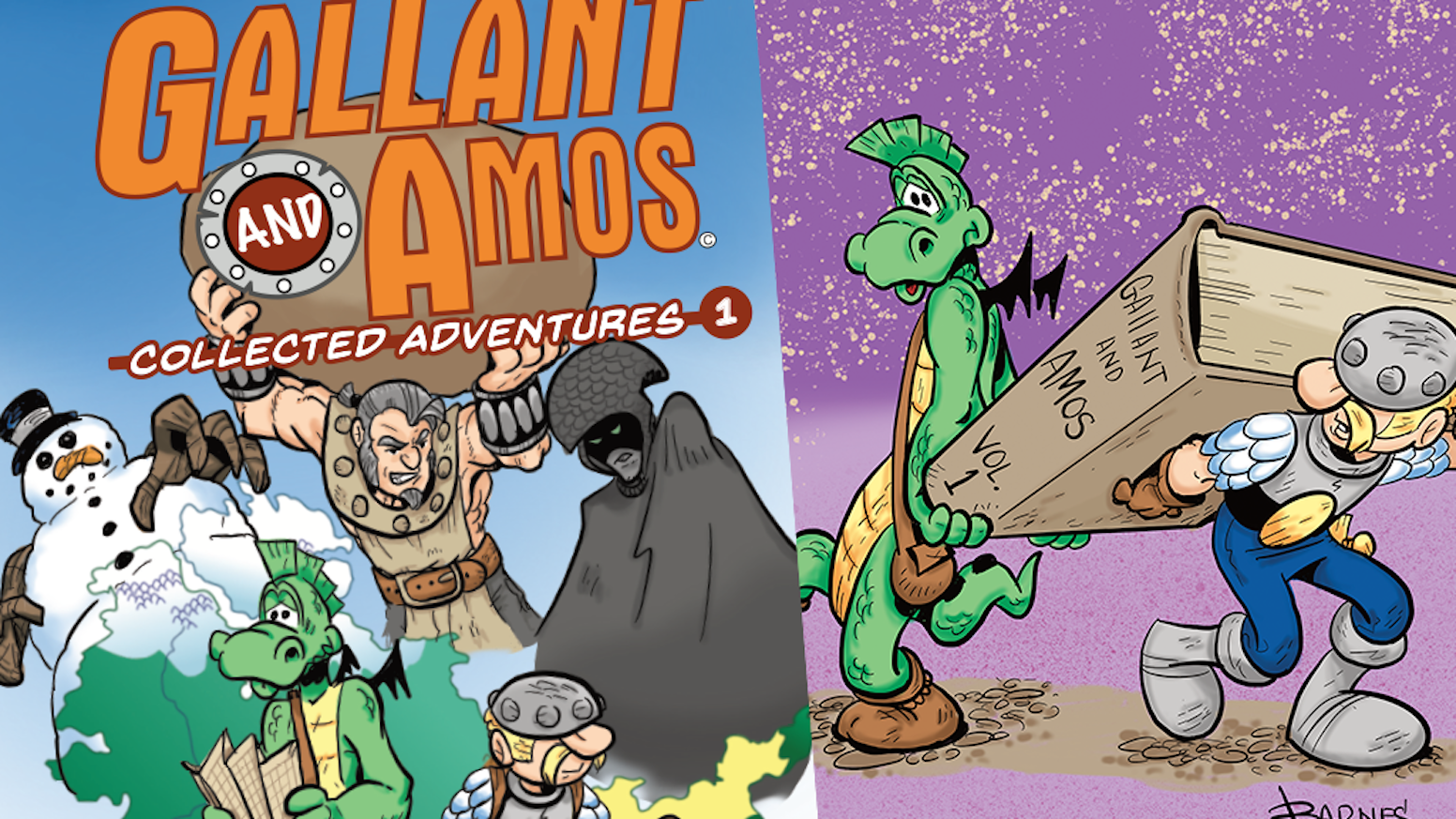 The first collected works of Gallant & Amos from creator Rob Barnes, collating the first 4 issues released in 2018 and much more!