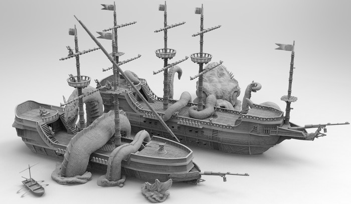 Shipworks 3d Printable Ship Terrain By Chris Hunt