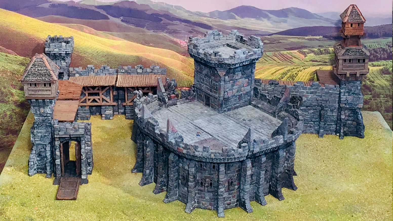 Savage Realms Citadel - 3D Printable Terrain ( stl files) by Jeremy