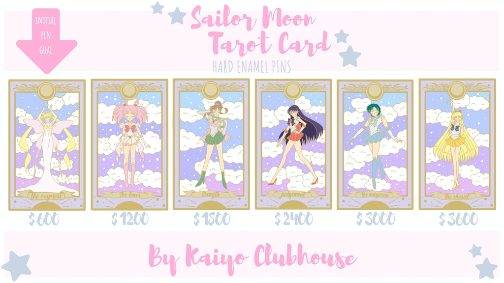 Sailor Moon Tarot Card Enamel Pins