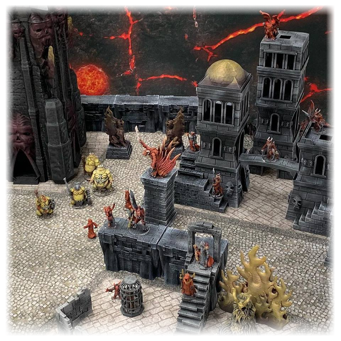 Conflict erupts in the streets of the infernal city.