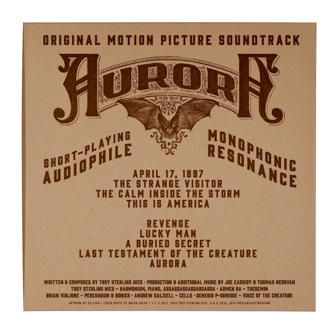 Silkscreened back cover of LP jacket