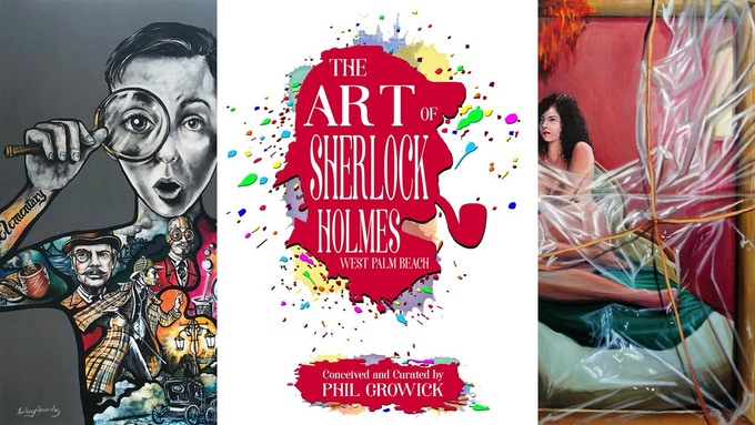 Two of the fifteen new pieces of art in The Art of Sherlock Holmes - West Palm Beach edition