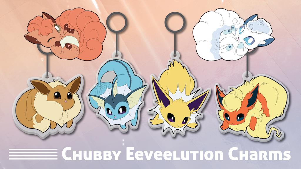 Chubby Eeveelution Charms