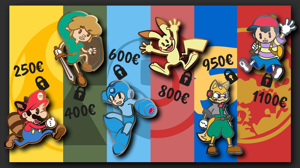 Favorite Nintendo Characters Enamel Pins!