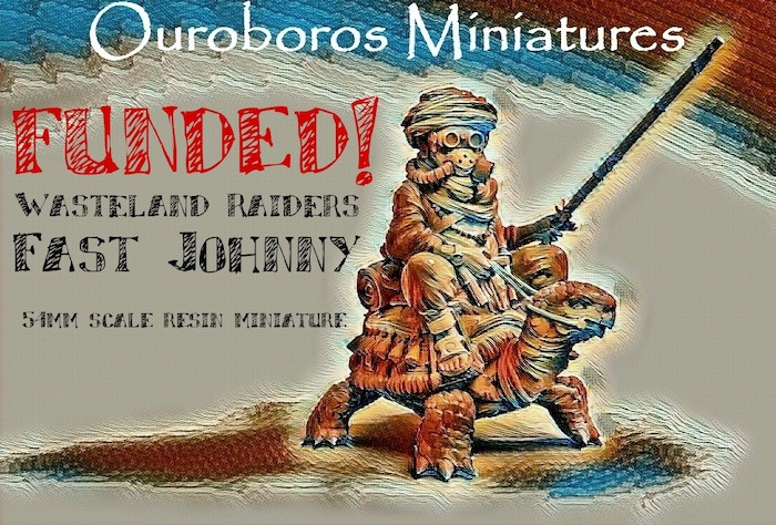 Ouroboros Miniatures presents Wasteland Raiders: Fast Johnny. Please help us fund this large 54mm high quality resin miniature.