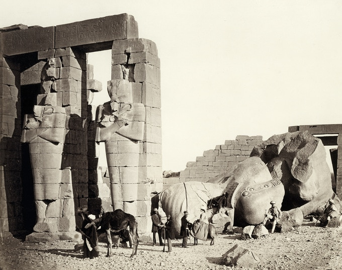 The Rameseum of El-Kurneh, Thebes ( 1857 ) - Photographed by Francis Frith / The Metropolitan Museum of Art