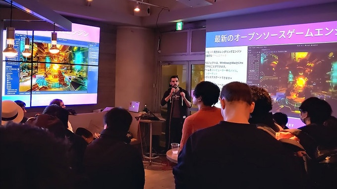 Presenting Godot to the Tokyo indie gamedev scene last December