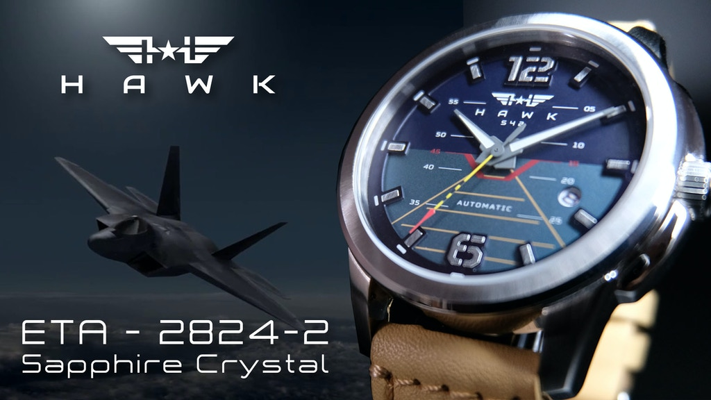Project image for HAWK : Inspired Sapphire Automatic ETA2824-2 Watches (US254)